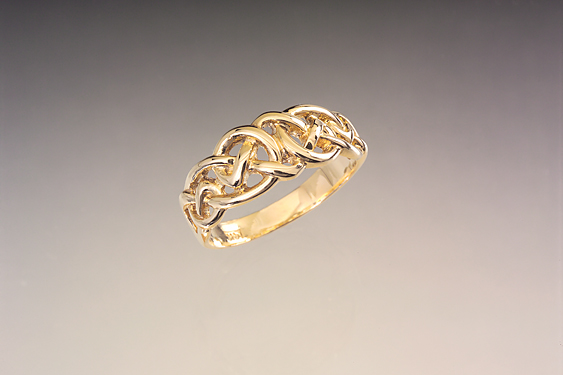 Tight weave Celtic Love Knot Ring