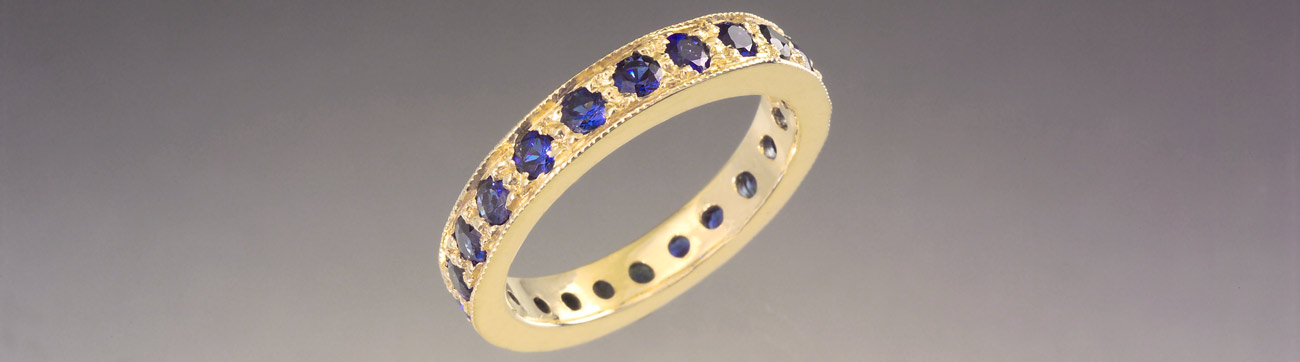 Sapphire Eternity Band Ring